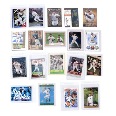 """Derek Jeter Baseball Card Collection Including Topps and Bowman """"Chrome"""" Cards"""