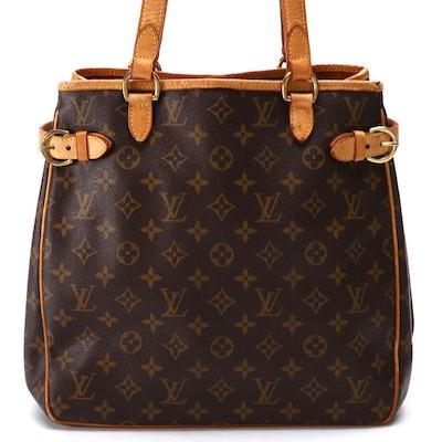 Louis Vuitton Batignolles Vertical Monogram Canvas and Vachetta Leather