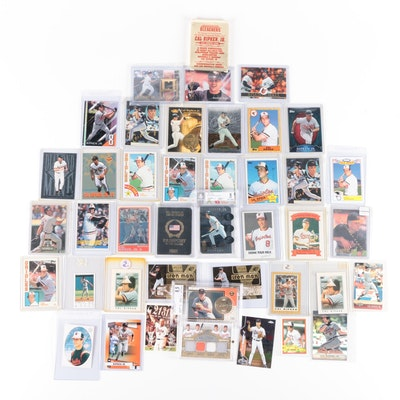 Cal Ripken, Jr. Baseball Cards Including 23 Karat All-Gold Sculptured Card
