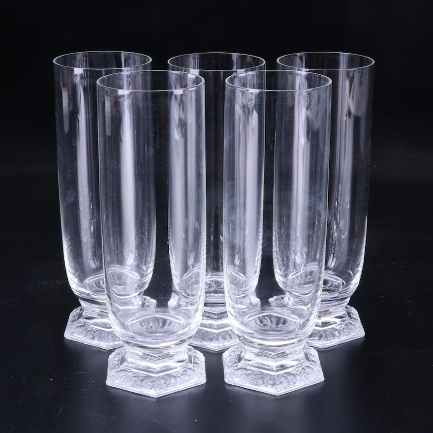 """Rosenthal Crystal """"Maria"""" Tall Drinking Glasses"""