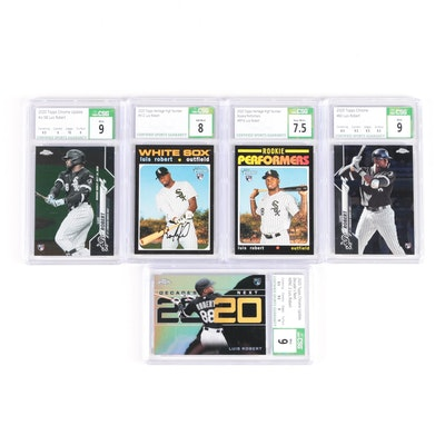 """2020 Luis Robert Topps """"Chrome"""" and """"Heritage"""" CSG Graded Rookie Baseball Cards"""