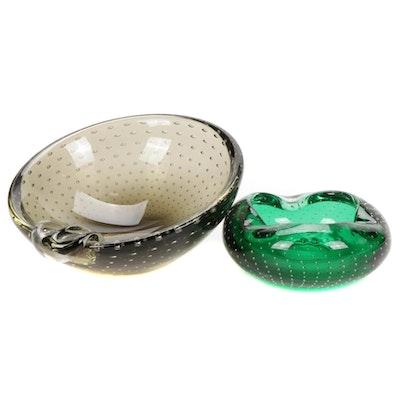Carl Erickson Decorative Art Glass Bowls