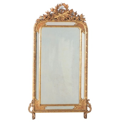 Louis XVI Style Giltwood and Composition Pier Mirror, Late 19th Century