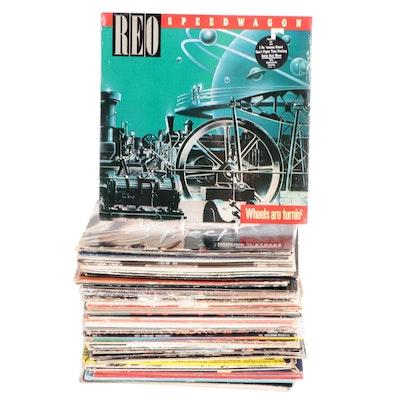 Queen, Pink Floyd, Led Zeppelin, Journey, INXS, Other Vinyl Rock LP Records