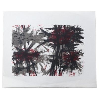 """H.H. Zwonechek Serigraph """"Deration,"""" 1961"""