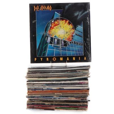 Michael Jackson, Journey, Tom Petty, AC/DC, Other Rock Vinyl LP Records
