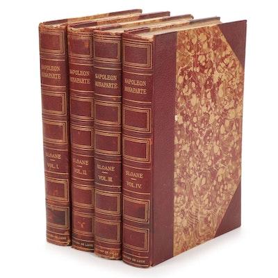 """Life of Napoleon Bonaparte"" Four-Volume Set by William Milligan Sloane, 1909"