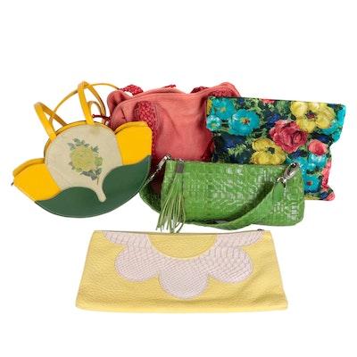 Carlos Falchi, Elliott Lucca, Cecconi Piero, and Other Clutches and Handbags