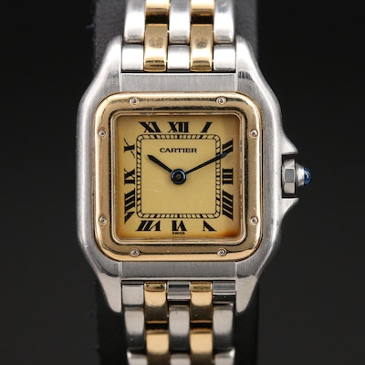 Cartier Panthere 18K and Stainless Steel Wristwatch