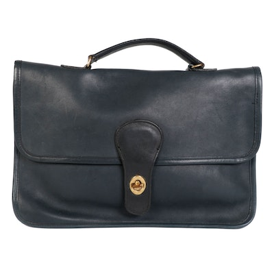 Coach Leather Top Handle Business Bag