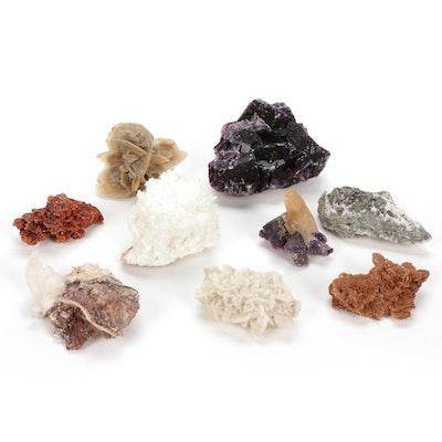 Gypsum, Fluorite, Tetrahedrite and Other Minerals