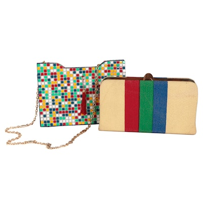 Designed by Frilo and Other Color Block and Chiclet Style Handbags