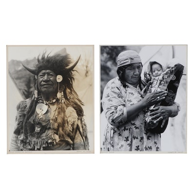"""Grant Haist Silver Gelatin Photographs """"Chief Standing Buffalo"""" and More"""
