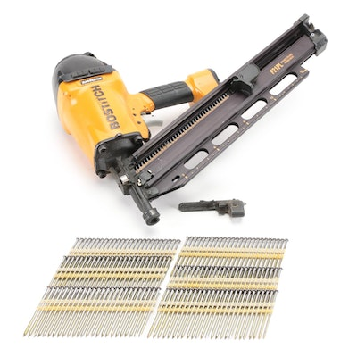Bostitch Plastic Collated Pneumatic Framing Nailer with Framing Nails