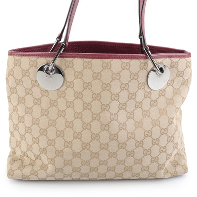 Gucci Eclipse GG Canvas and Leather Tote