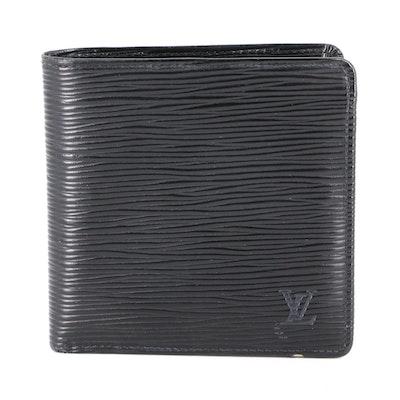 Louis Vuitton Porte Billets Cartes Credit Monnaie in Black Epi Leather