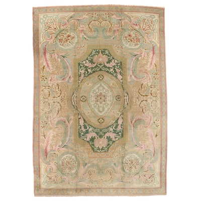 10'10 x 15'11 Hand-Knotted Savonnerie Style Room Sized Rug