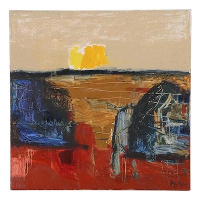 """Cassandra Linnea Auker Oil Painting """"Untitled,"""" 2021"""