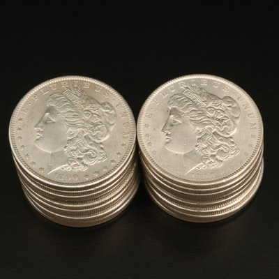 Twenty 1890 Morgan Silver Dollars