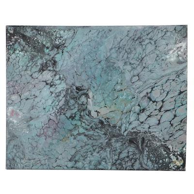 Senni Abstract Acrylic Pour Painting, 2021
