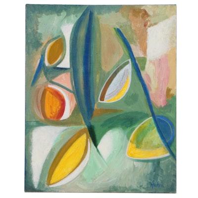 """Cassandra Linnea Auker Acrylic Painting """"Iboga Fruit,"""" 2021"""