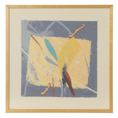 Jan Cook Mack Abstract Poured Handmade Paper