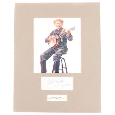 Grandpa Jones Matted Signature Cut and Photo Print