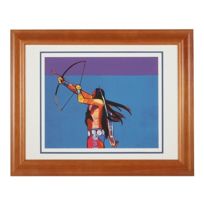"John Nieto Serigraph ""Archer Takes Aim,"" 1996"