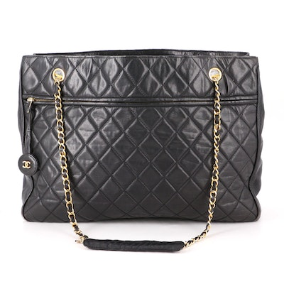 Chanel Shoulder Bag in Quilted Lambskin with Interwoven Chain Strap