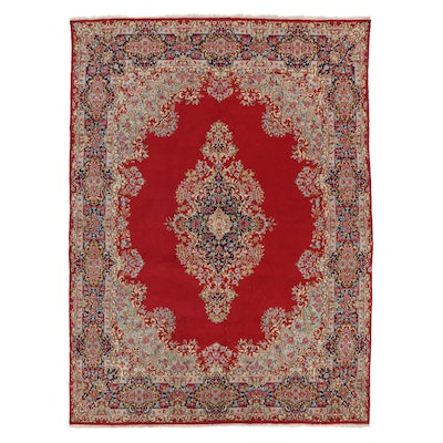 9'7 x 13'4 Hand-Knotted Indo-Persian Kerman Room Sized Rug