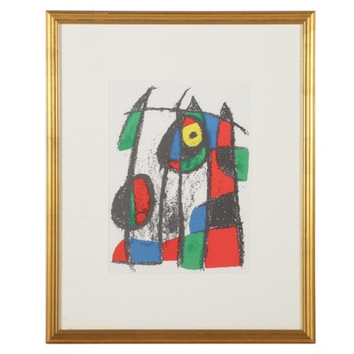 """Joan Miró Color Lithograph from """"Lithographs II"""""""