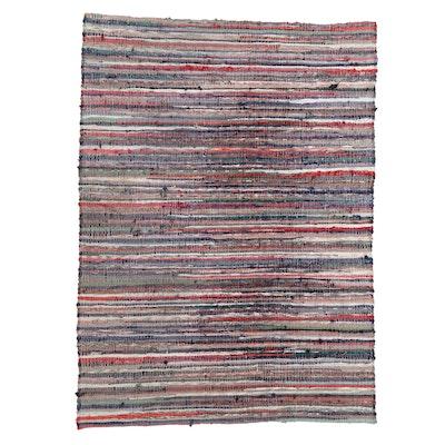 "6'8 x 9' Handwoven Creative Looms, Inc. ""Williamstown"" Rag Rug"