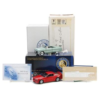 Franklin Mint 1:24 Limited Edition 1949 Ford Convertible with 2005 Mustang GT