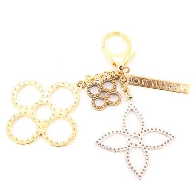 Louis Vuitton Bijoux Sac Tapage Tri-Tone Key Ring Bag Charm