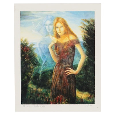 """Rina Sutzkever Seriolithograph """"A Moment in Time"""""""