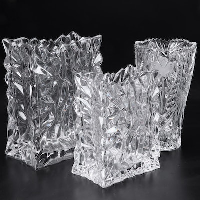 """Rosenthal """"Paper Bag"""" and Other Crystal Vases"""