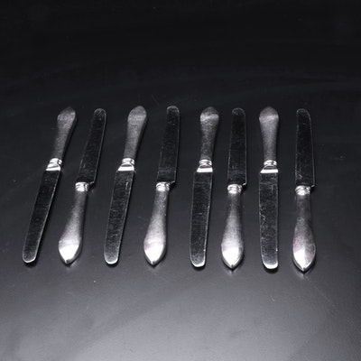"""Tiffany & Co """"Faneuil"""" Sterling Silver Handled Dinner Knives"""