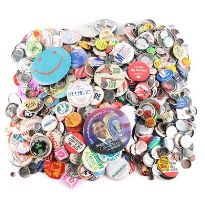 Pin Backs Including 1982 World's Fair, MTV and Various Campaign Pins