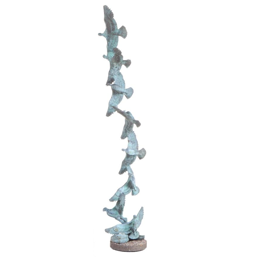 Bob Winship Bronze Sculpture of Birds in Flight