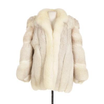 Saga Blue Fox Fur Jacket, Late 20th Century