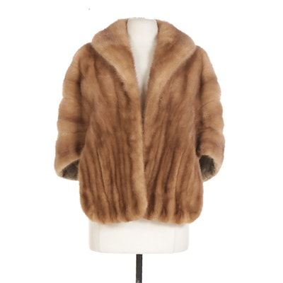 Pastel Mink Fur Stole From Burchay's Exclusive Furriers