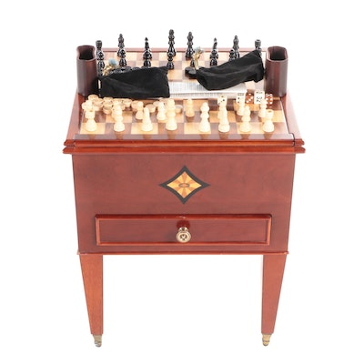 The Bombay Company Cherry Finish Reversible Game Table