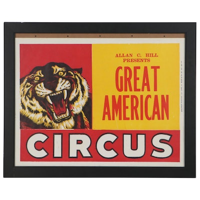"""Lithograph """"Great American Circus"""""""