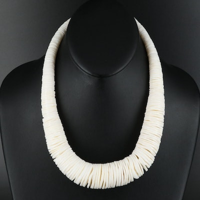 Graduated Shell Disc Necklace