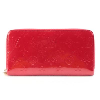 Louis Vuitton Zippy Organizer in Pomme D'amour Monogram Vernis Leather