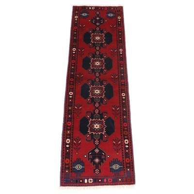 2'8 x 9'4 Hand-Knotted Persian Sirjan Carpet Runner