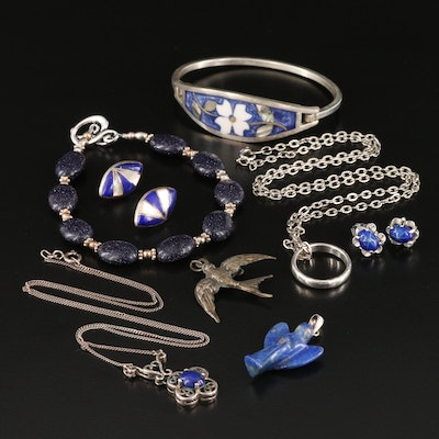 Sterling Lapis Lazuli and Mother of Pearl Assorted Jewelry