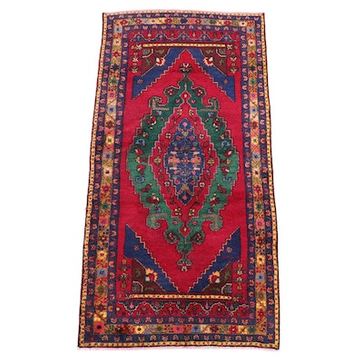 4'7 x 9'1 Hand-Knotted Persian Caucasian Area Rug