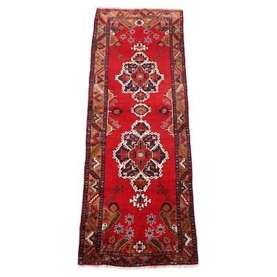 4'2 x 11'7 Hand-Knotted Persian Hamadan Long Rug