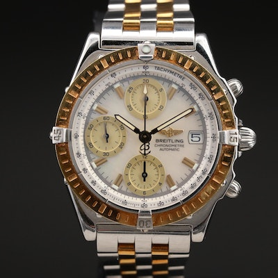 Breitling Mother of Pearl Dial Automatic Chronometre Wristwatch
